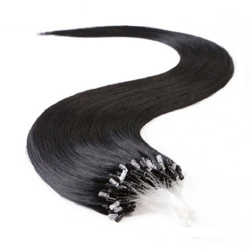 Micro Loop Ring Hair, Color 1 (Jet Black)
