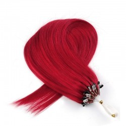Micro Loop Ring Hair, Color Red