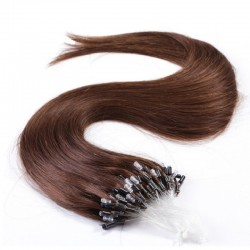 Micro Loop Ring Hair, Color 4 (Dark Brown)