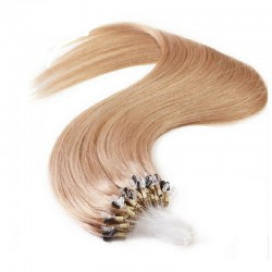 Micro Loop Ring Hair Extensions, Color #16 (Medium Ash Blonde), Made With Remy Indian Human Hair