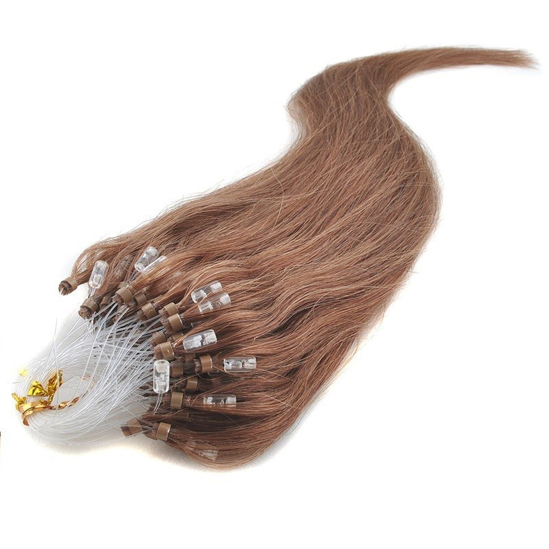 Micro Loop Ring Hair Extensions, Color #30 (Dark Auburn), Made With Remy Indian Human Hair