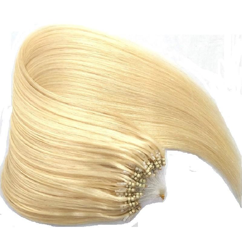 Micro Loop Ring Hair, Color 613 (Platinum Blonde)