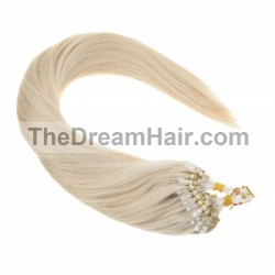Micro Loop Ring Hair, Color 60 (Lightest Blonde)