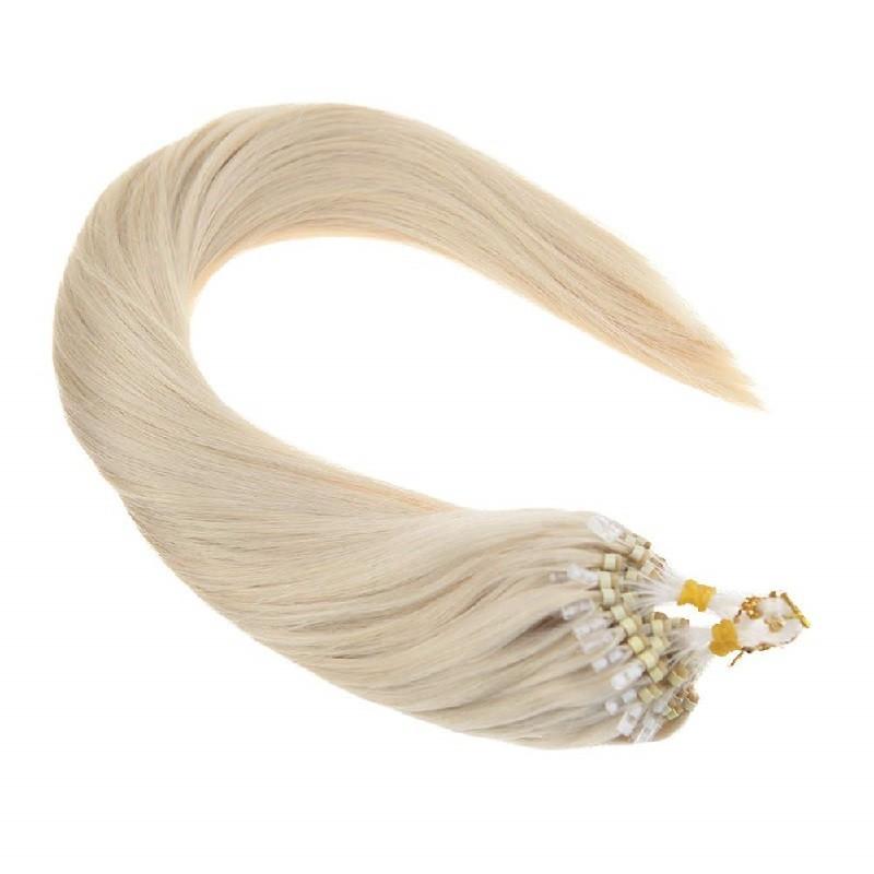 Micro Loop Ring Hair, Color 60 (Lightest Blonde)