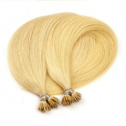 Nano Ring Hair Extensions, Color #24 (Golden Blonde), Made With Remy Indian Human Hair
