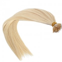 Nano Ring Hair Extensions, Color #613 (Platinum Blonde), Made With Remy Indian Human Hair