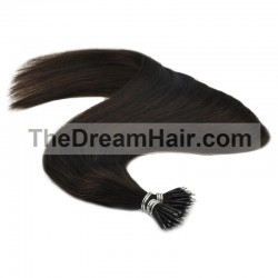 Nano Ring Hair Extensions, Color #1B (Off Black Black), Made With Remy Indian Human Hair