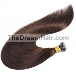 Nano Ring Hair Extensions, Color #2 (Darkest Brown), Made With Remy Indian Human Hair