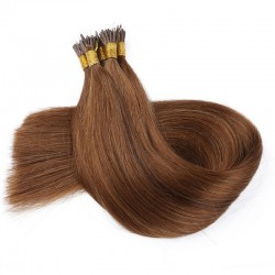 Nano Ring Hair Extensions, Color #6 (Medium Brown), Made With Remy Indian Human Hair