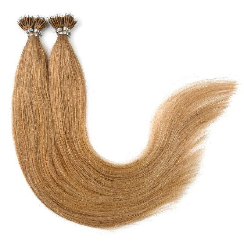 Nano Ring Hair Extensions, Color #27 (Honey Blonde), Made With Remy Indian Human Hair