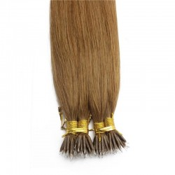 Nano Ring Hair Extensions, Color #10 (Golden Brown), Made With Remy Indian Human Hair