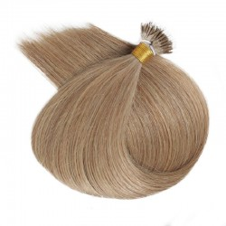 Nano Ring Hair Extensions, Color #14 (Dark Ash Blonde), Made With Remy Indian Human Hair
