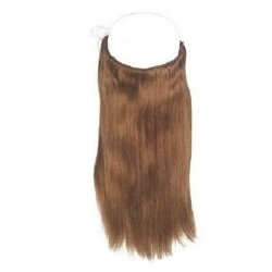 Flip-in Halo Hair Extensions, Colour #30 (Dark Auburn), Made With Remy Indian Human Hair