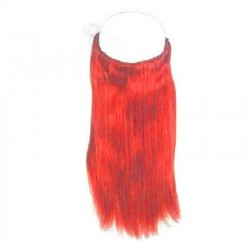 Flip-in Halo Hair Extensions, Colour #Pink, Made With Remy Indian Human Hair