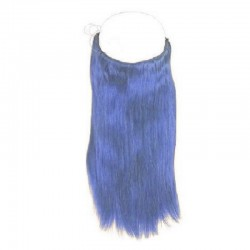 Flip-in Halo Hair Extensions, Colour #Blue, Made With Remy Indian Human Hair