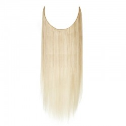 Flip-in Halo Hair Extensions, Colour #613 (Platinum Blonde), Made With Remy Indian Human Hair