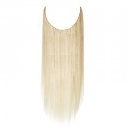 Flip-in Halo Hair Extensions, Colour #60 (Lightest Blonde), Made With Remy Indian Human Hair