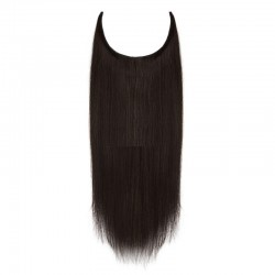 Flip-in Halo Hair Extensions, Colour #1B (Off Black), Made With Remy Indian Human Hair