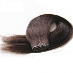 Skin Weft Hair Extensions, Colour #2 (Darkest Brown), Made With Remy Indian Human Hair