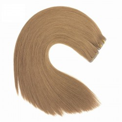 Skin Weft Hair Extensions, Colour #10 (Golden Brown), Made With Remy Indian Human Hair