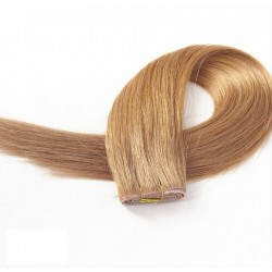 Skin Weft Hair Extensions, Colour #12 (Light Brown), Made With Remy Indian Human Hair