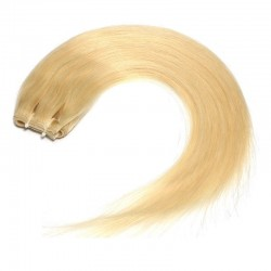 Skin Weft Hair Extensions, Colour #24 (Golden Blonde), Made With Remy Indian Human Hair