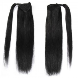 Wrap Around Ponytail Hair Extensions, Colour #1 (Jet Black), Made With Remy Indian Human Hair