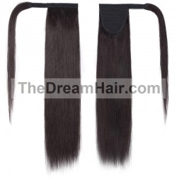 Wrap Around Ponytail Hair Extensions, Colour #1B (Off Black), Made With Remy Indian Human Hair