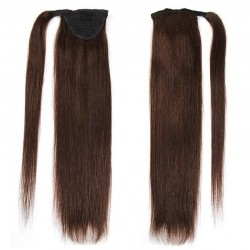 Wrap Around Ponytail Hair Extensions, Colour #2 (Darkest Brown), Made With Remy Indian Human Hair