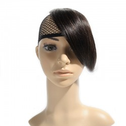 Sweeping Side Fringe, Colour 1B (Off Black)