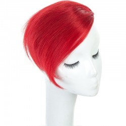 Sweeping Side Fringe, Colour Red