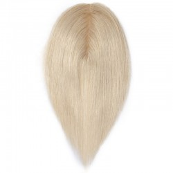Crown Topper Hair Extensions, Colour #22 (Light Pale Blonde), Made With Remy Indian Human Hair