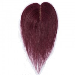 Crown Topper Hair Extensions, Colour #99j (Burgundy), Made With Remy Indian Human Hair