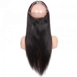 360° Circular Band Lace  Frontal Closure Hair Extensions, Colour #1B (Off Black), Made With Remy Indian Human Hair