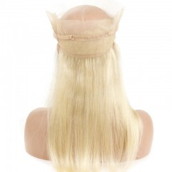 360° Circular Band Lace  Frontal Closure Hair Extensions, Colour #22 (Light Pale Blonde), Made With Remy Indian Human Hair