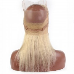 360° Circular Band Lace  Frontal Closure Hair Extensions, Colour #60 (Lightest Blonde), Made With Remy Indian Human Hair
