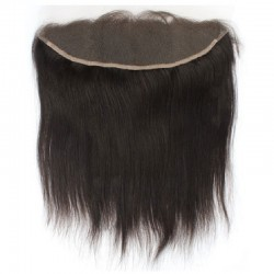 Lace Frontal Closure (13x4) Hair Extensions, Colour #1B (Off Black), Made With Remy Indian Human Hair