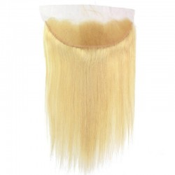 Lace Frontal Closure (13x4) Hair Extensions, Colour #22 (Light Pale Blonde), Made With Remy Indian Human Hair
