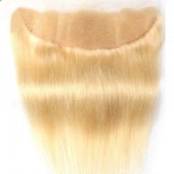 Lace Frontal Closure (13x4) Hair Extensions, Colour #24 (Golden Blonde), Made With Remy Indian Human Hair