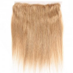 Lace Frontal Closure (13x4) Hair Extensions, Colour #27 (Honey Blonde), Made With Remy Indian Human Hair
