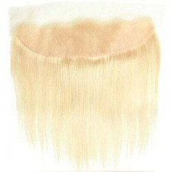Lace Frontal Closure (13x4) Hair Extensions, Colour #613 (Platinum Blonde), Made With Remy Indian Human Hair