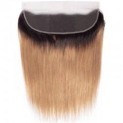 "Lace Frontal Closure (13"" x 4""), Colour 1B/27 (Off Black / Honey Blonde)"