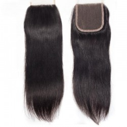 Top Closure Hair Extensions, Free Part, Colour #1B (Jet Black), Made With Remy Indian Human Hair