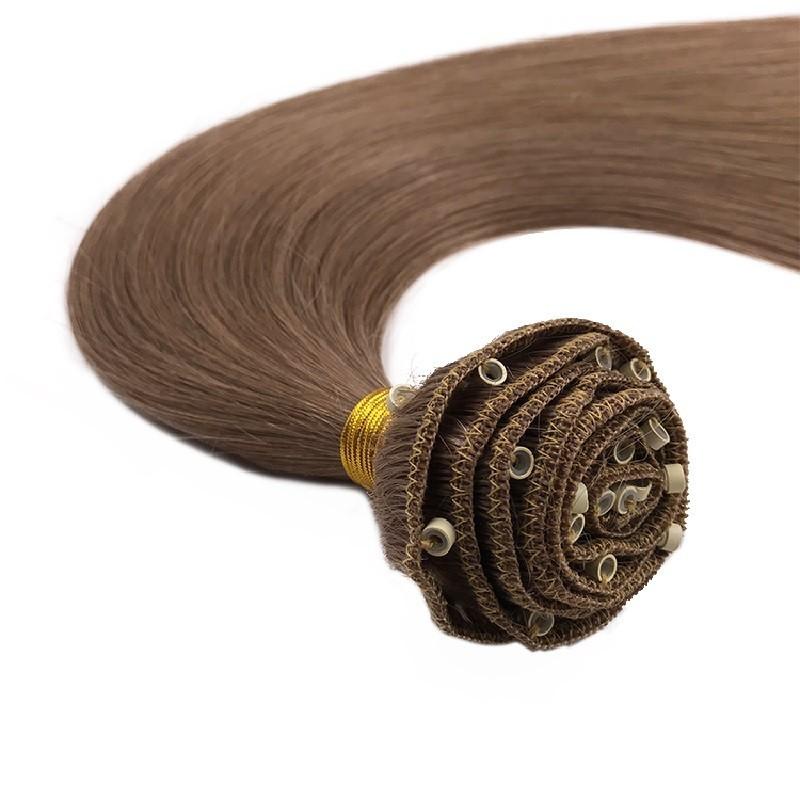 Micro Ring Weft, Colour 6 (Medium Brown)