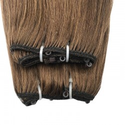 Micro Ring Weft Hair Extensions, Colour #8 (Chestnut Brown), Made With Remy Indian Human Hair