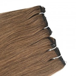 Micro Ring Weft, Colour 8 (Chestnut Brown)
