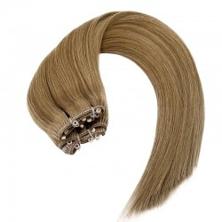 Micro Ring Weft Hair Extensions, Colour #10 (JGolden Brown), Made With Remy Indian Human Hair