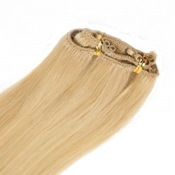 Micro Ring Weft Hair Extensions, Colour #24 (Golden Blonde), Made With Remy Indian Human Hair