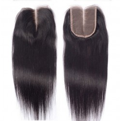 Top Closure Hair Extensions, Middle Part, Colour #1B (Off Black), Made With Remy Indian Human Hair