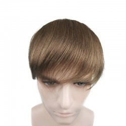 Men's Frontal Hairpiece Specially Designed to Cover Receding Hairline, Color #6 (Medium Brown), Made With Remy Indian Human Hair